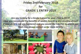 Open Day for Grade 1 Entry 2019
